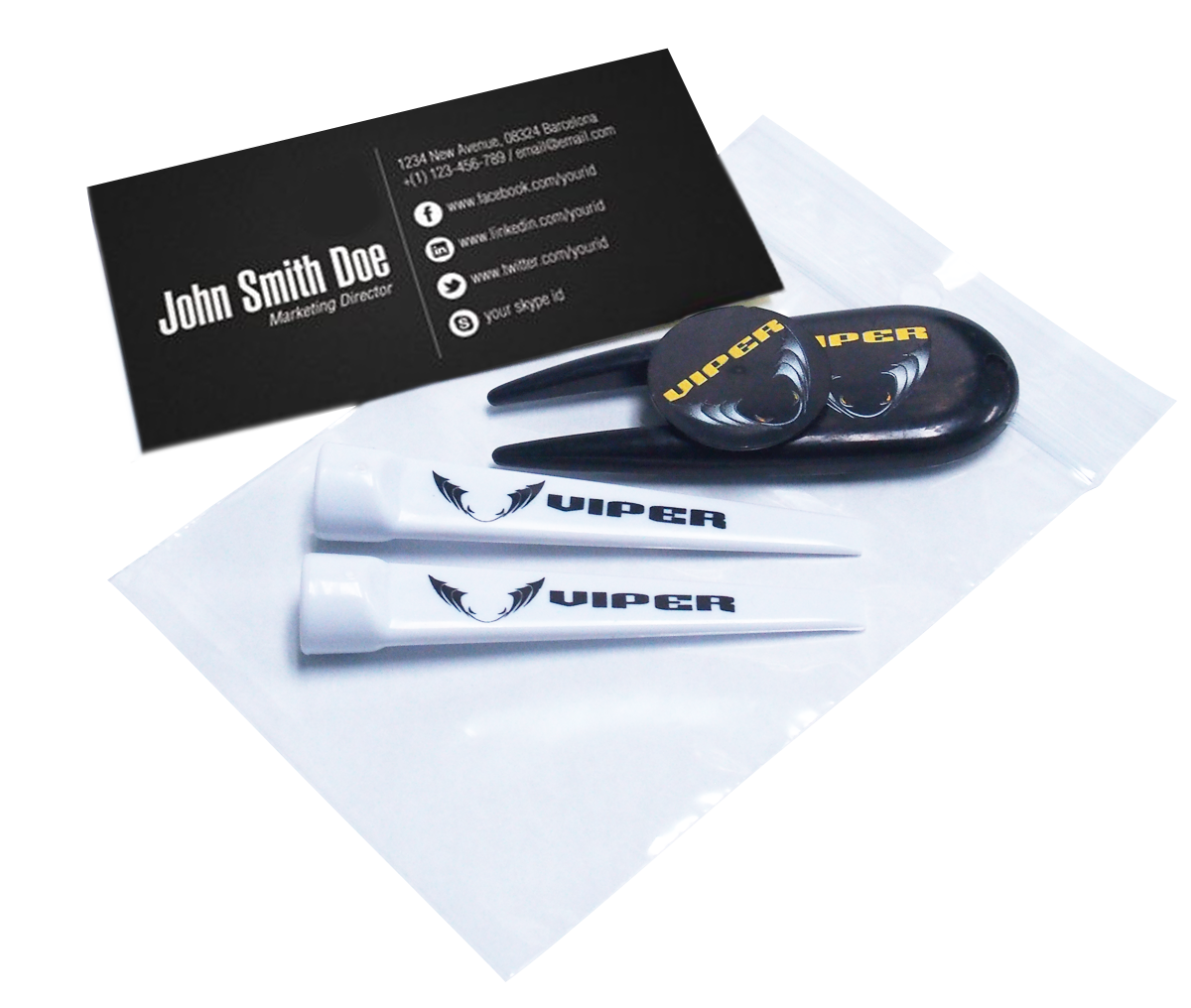 Custom Printed Golf Business Card Combo Pack (Minimum order is 144 ...