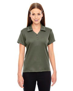 North End Ladies' Exhilarate Coffee Charcoal Performance Polo with Back Pocket