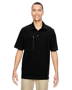 North End Men's Excursion Crosscheck Woven Polo