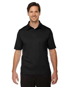 North End Men's Exhilarate Coffee Charcoal Performance Polo with Back Pocket