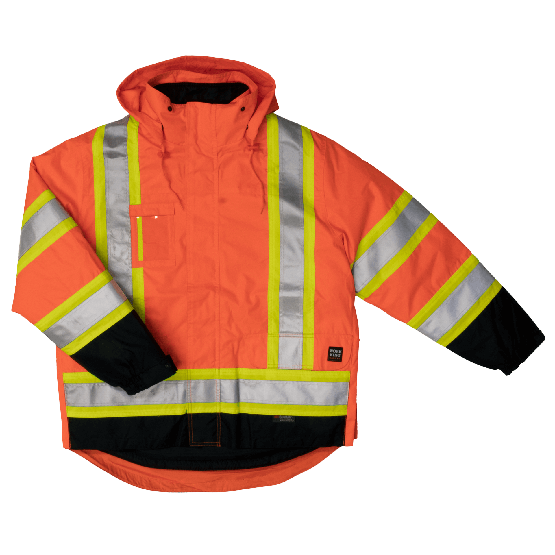 S426-FLOR-F-Work-King-Safety-by-Tough-Duck-Mens-5-in-1-Safety-Jacket-Fluorescent-Orange-Front