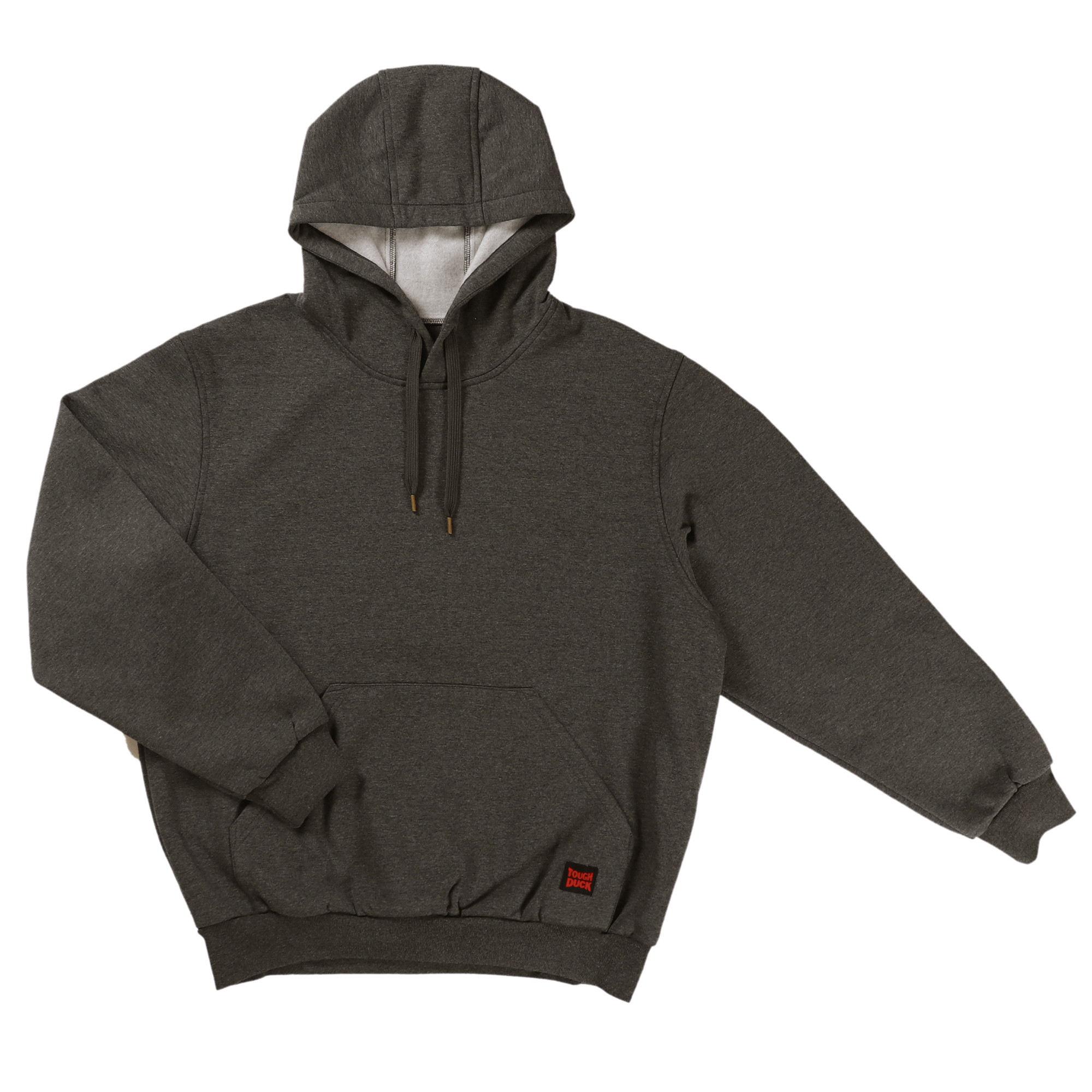 WJ22-CHAR-F-Tough-Duck-Mens-Popover-Hoodie-Charcoal-Front
