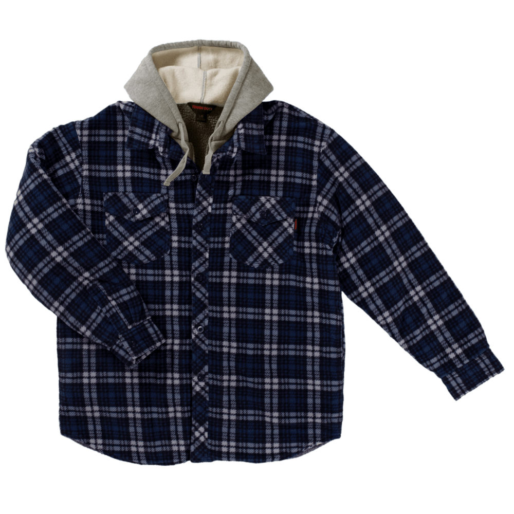 WS02-NAVYP-F-Tough-Duck-Mens-Sherpa-Lined-Fleece-Shirt-Navy-Plaid-Front-1000x1000