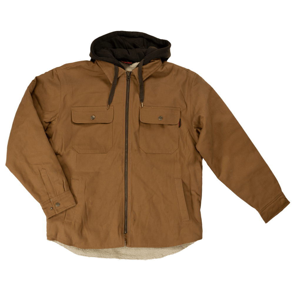 WS03-BROWN-F-Tough-Duck-Mens-Sherpa-Lined-Duck-Shirt-Brown-Front-1000x1000