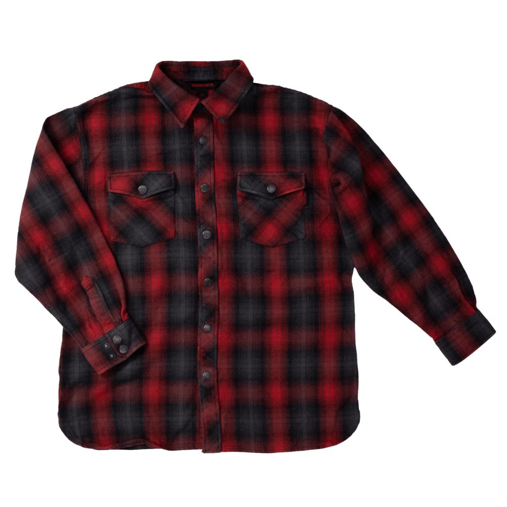 WS04-REDP-F-Tough-Duck-Flannel-Overshirt-Red-Plaid-Front-1000x1000