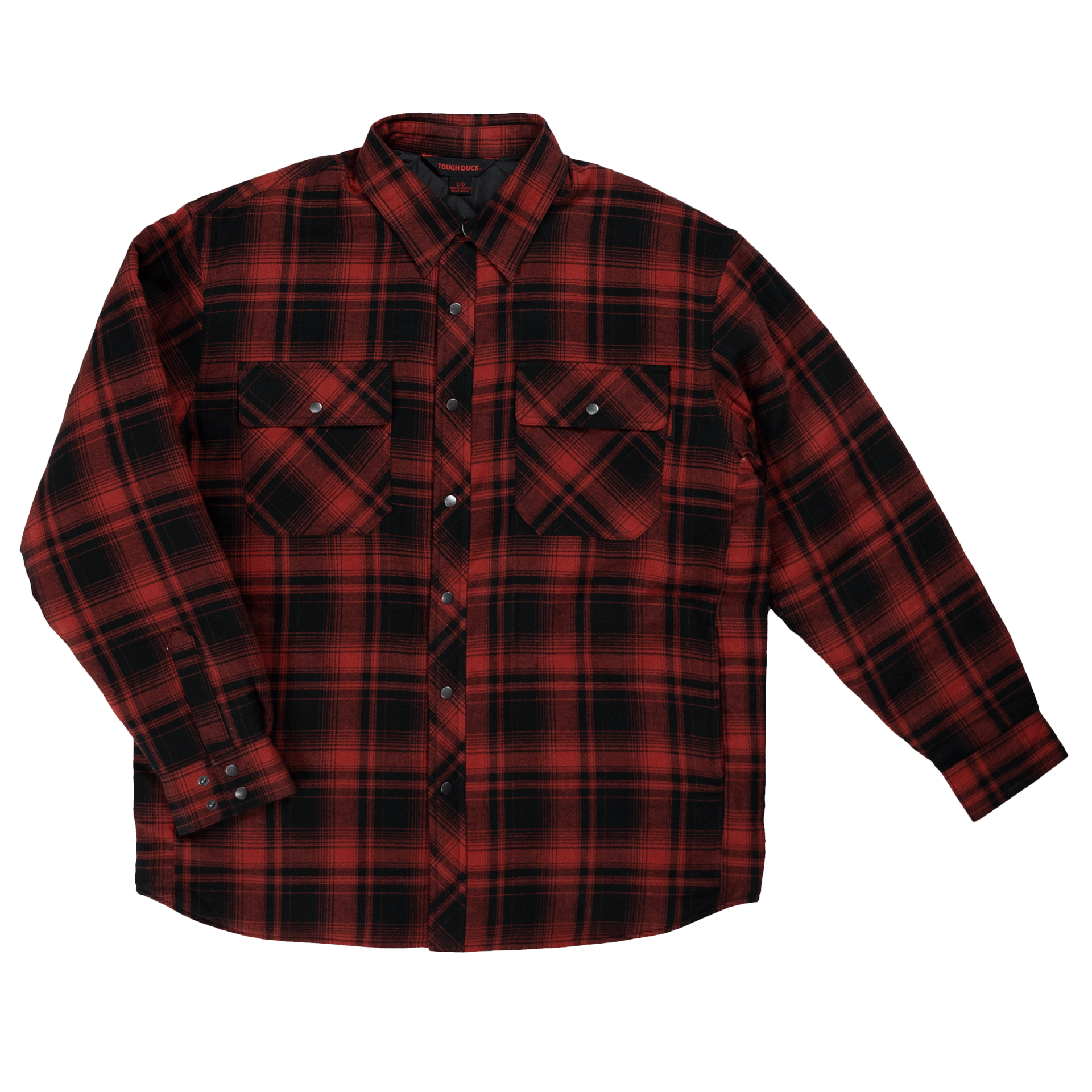 WS05-REDP-F-Tough-Duck-Mens-Quilt-Lined-Flannel-Shirt-Red-Plaid-Front