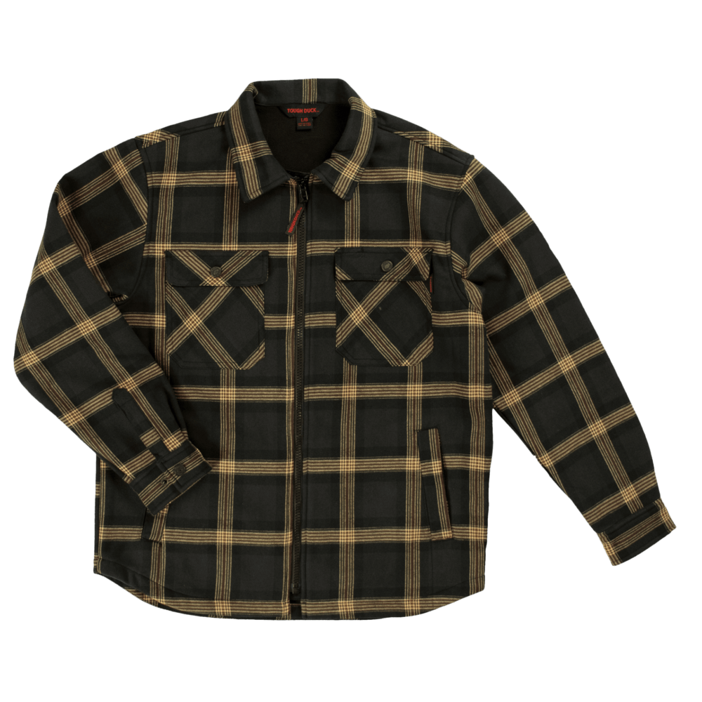 WS07-BLACP-F-Tough-Duck-Mens-Zip-Front-Bonded-Flannel-Shirt-Black-Plaid-Front-1000x1000