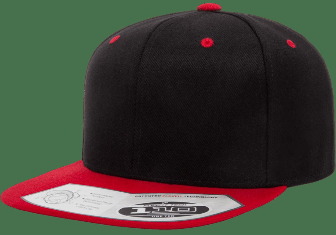 110FT_BLACK_RED_LEFT_SLANT_STICKER