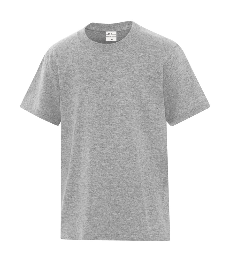 ATC™ Everyday Cotton Blend Youth Tee - Athletic Heather