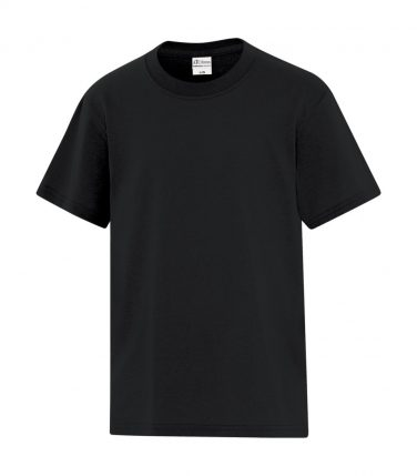 ATC™ Everyday Cotton Blend Youth Tee - Black