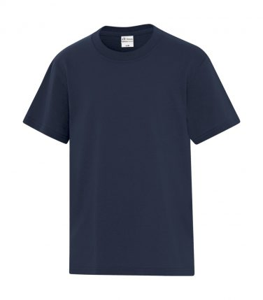 ATC™ Everyday Cotton Blend Youth Tee - Navy