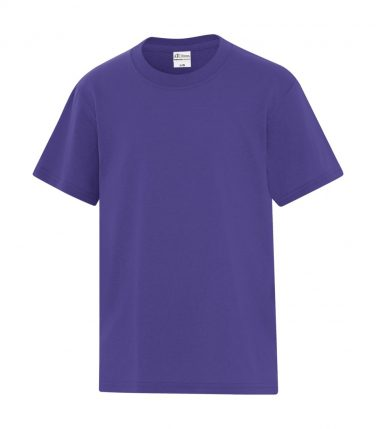 ATC™ Everyday Cotton Blend Youth Tee - Purple