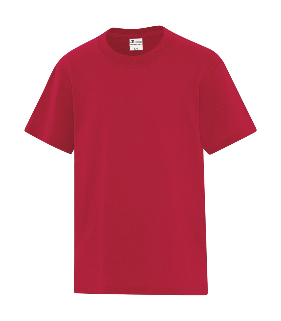 ATC™ Everyday Cotton Blend Youth Tee - Red