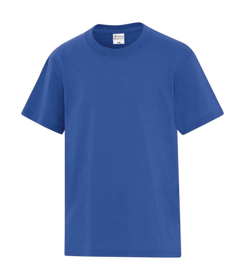 ATC™ Everyday Cotton Blend Youth Tee - Royal