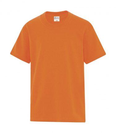 ATC™ Everyday Cotton Blend Youth Tee - Safety Orange