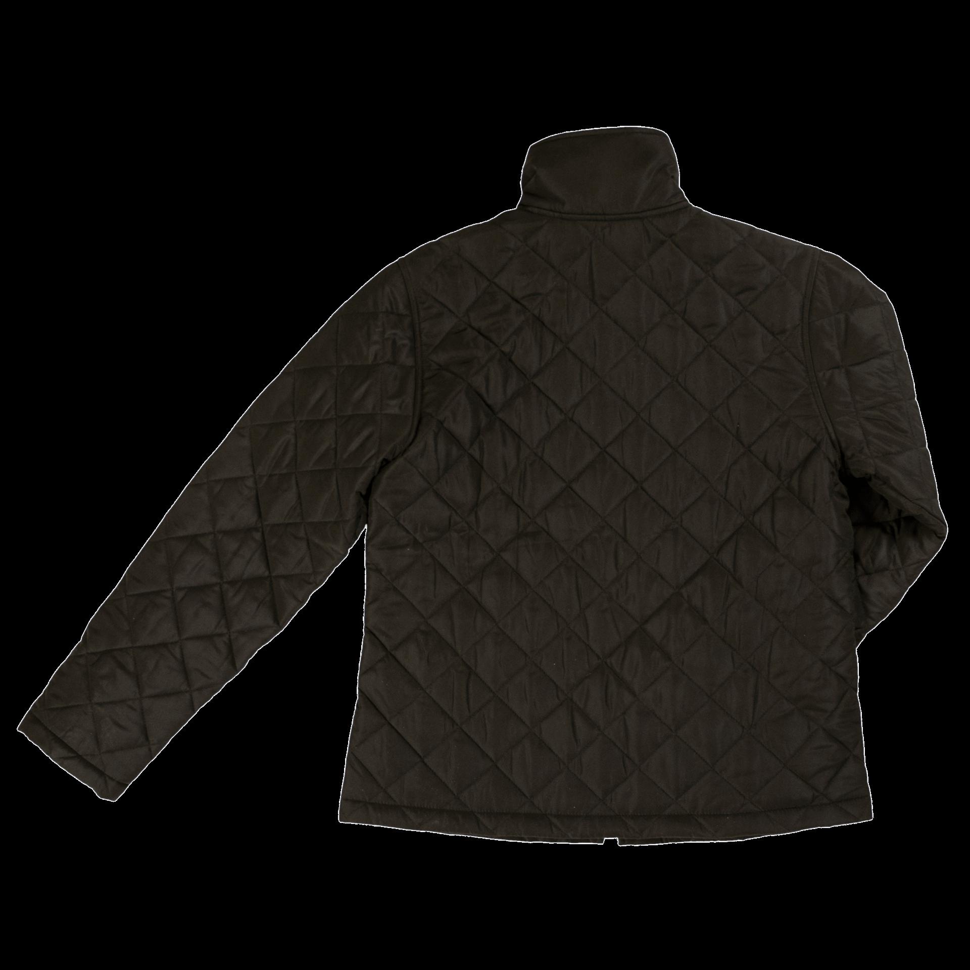 WJ19-BLACK-B-Tough-Duck-Womens-Quilted-Freezer-Jacket-Black-Back