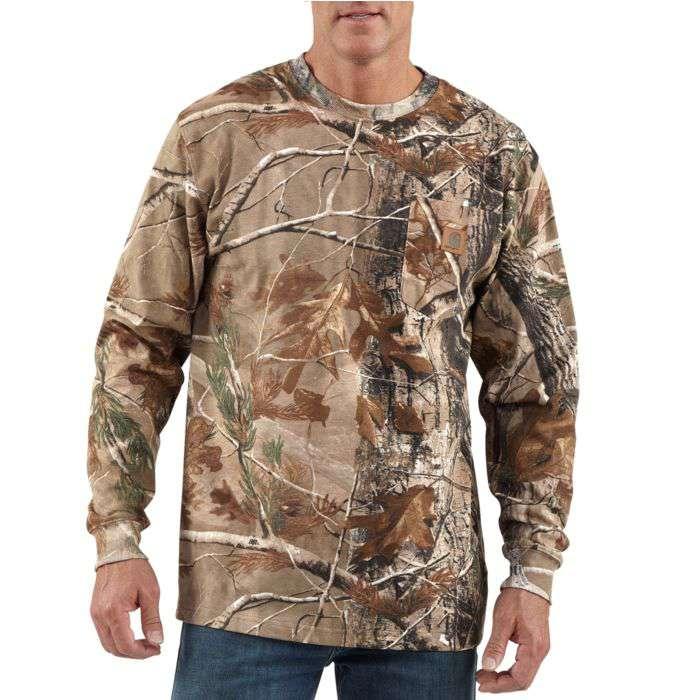 7e5f4c9040421 Carhartt Men's Realtree Xtra Camo Long-Sleeve T-Shirt Big/Tall Sizes -  Xpromo.ca